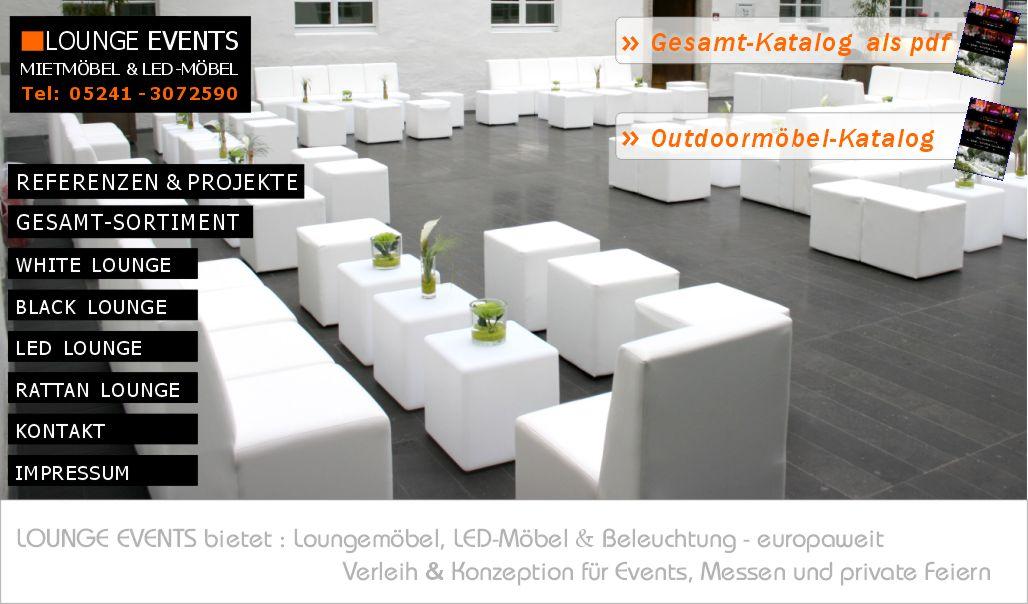 LOUNGE EVENTS - Mietmöbel Loungemöbel mieten LED Möbel Verleih ...
